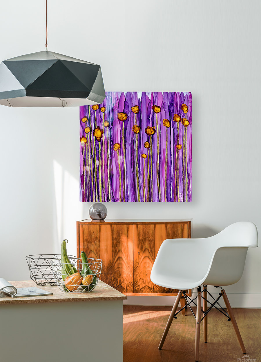 Wildflowers 3  HD Metal print with Floating Frame on Back