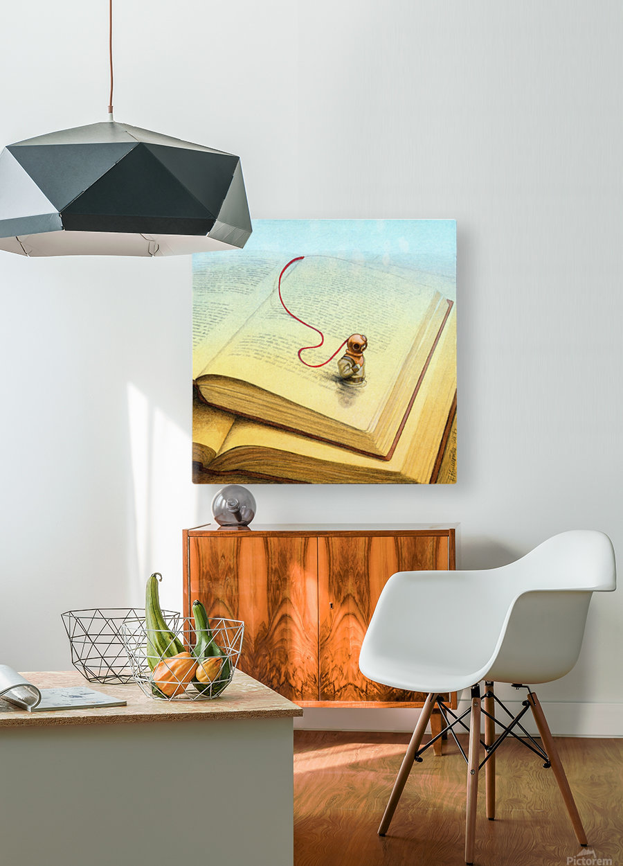 deeper  HD Metal print with Floating Frame on Back