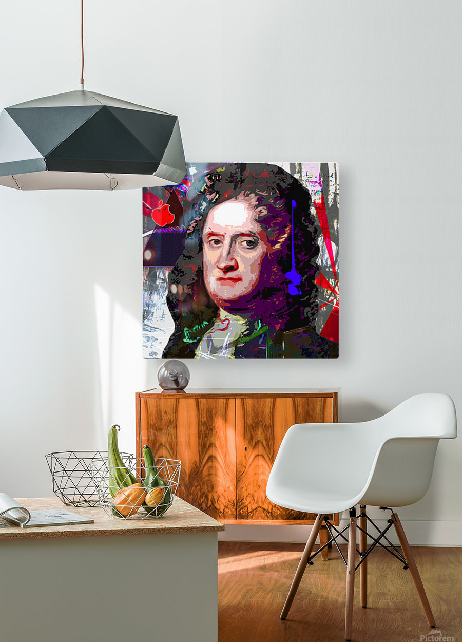 Newton  HD Metal print with Floating Frame on Back