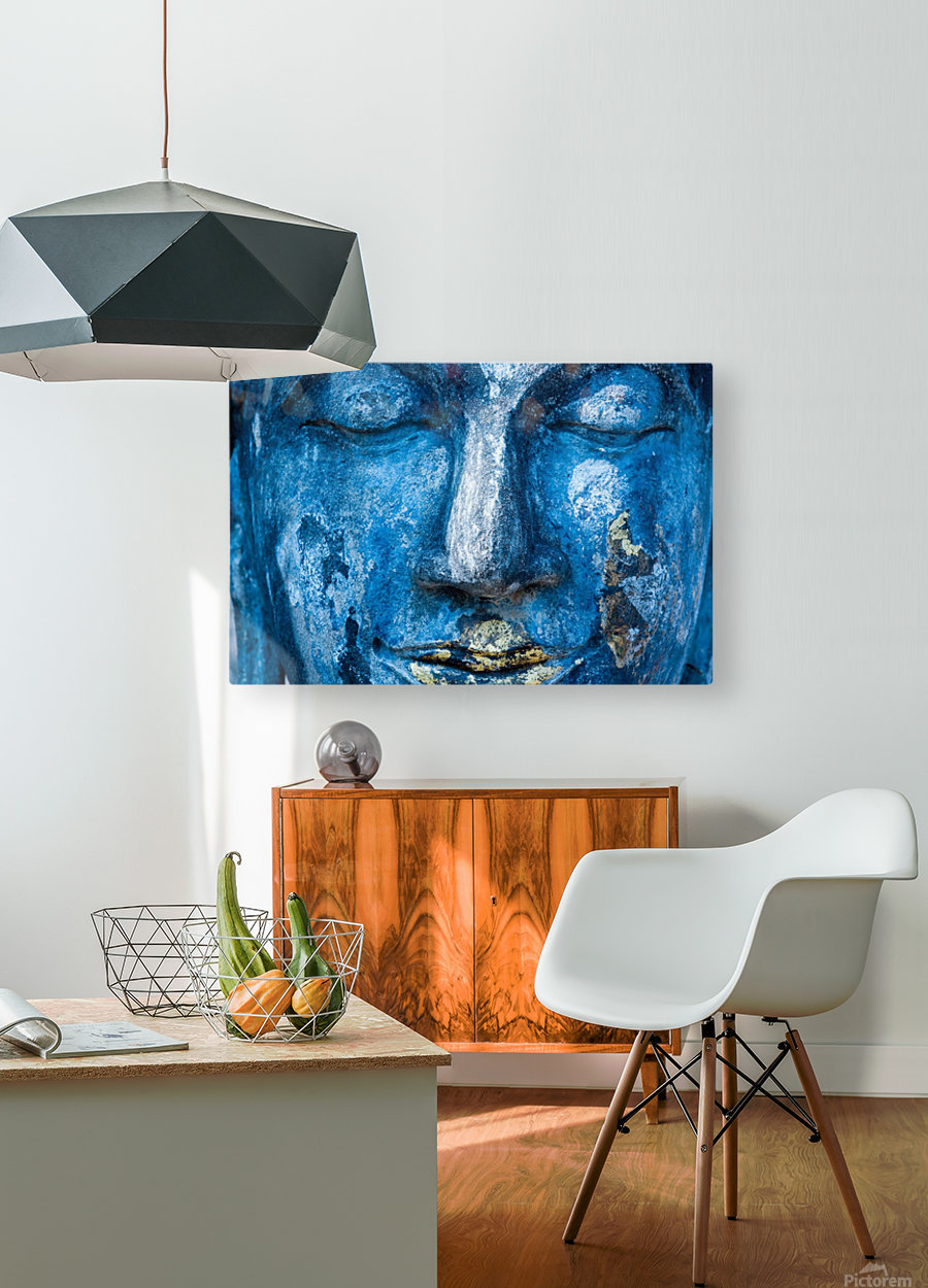 Buddha Face  HD Metal print with Floating Frame on Back
