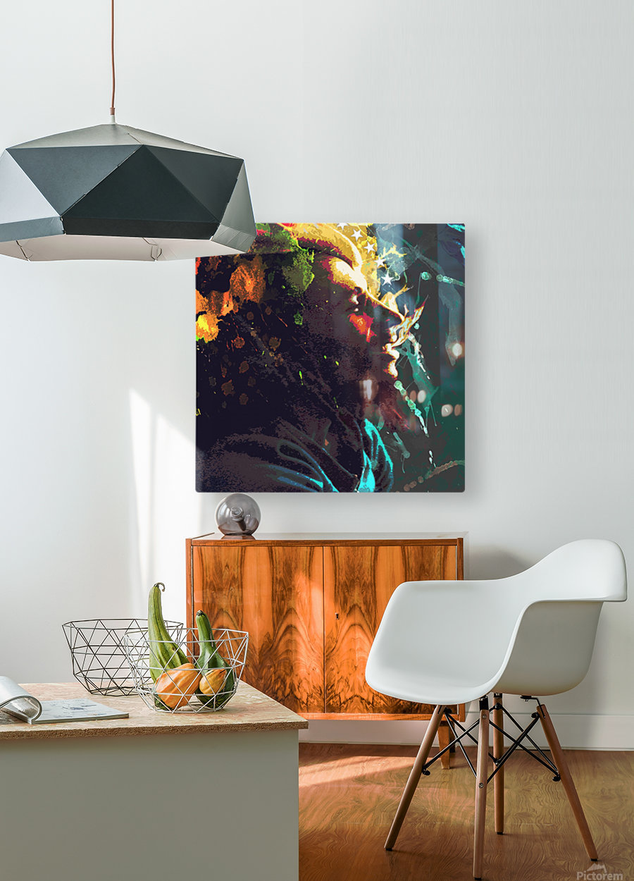 Marley  HD Metal print with Floating Frame on Back