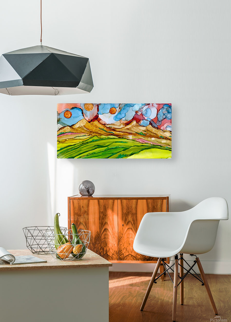 Three Suns  HD Metal print with Floating Frame on Back