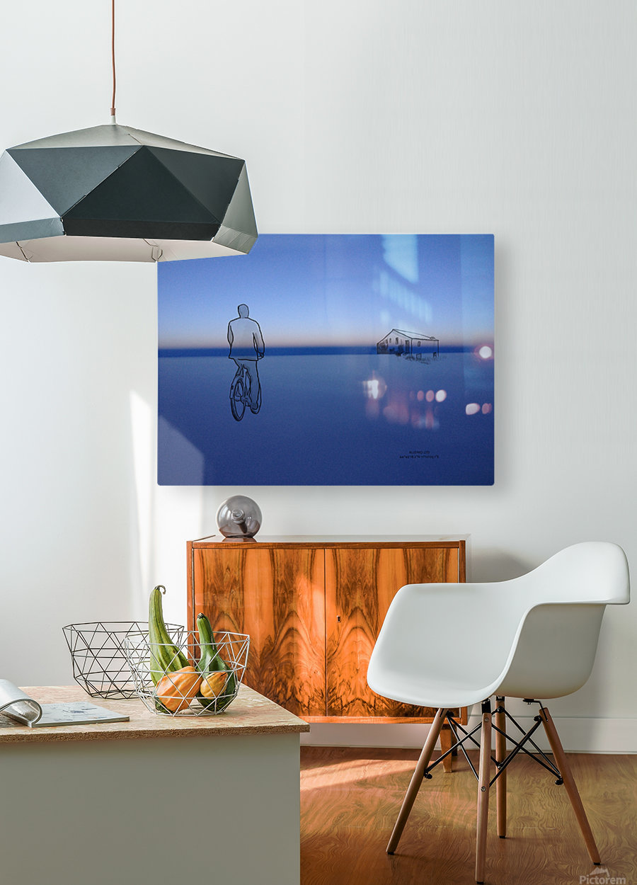 Home  HD Metal print with Floating Frame on Back