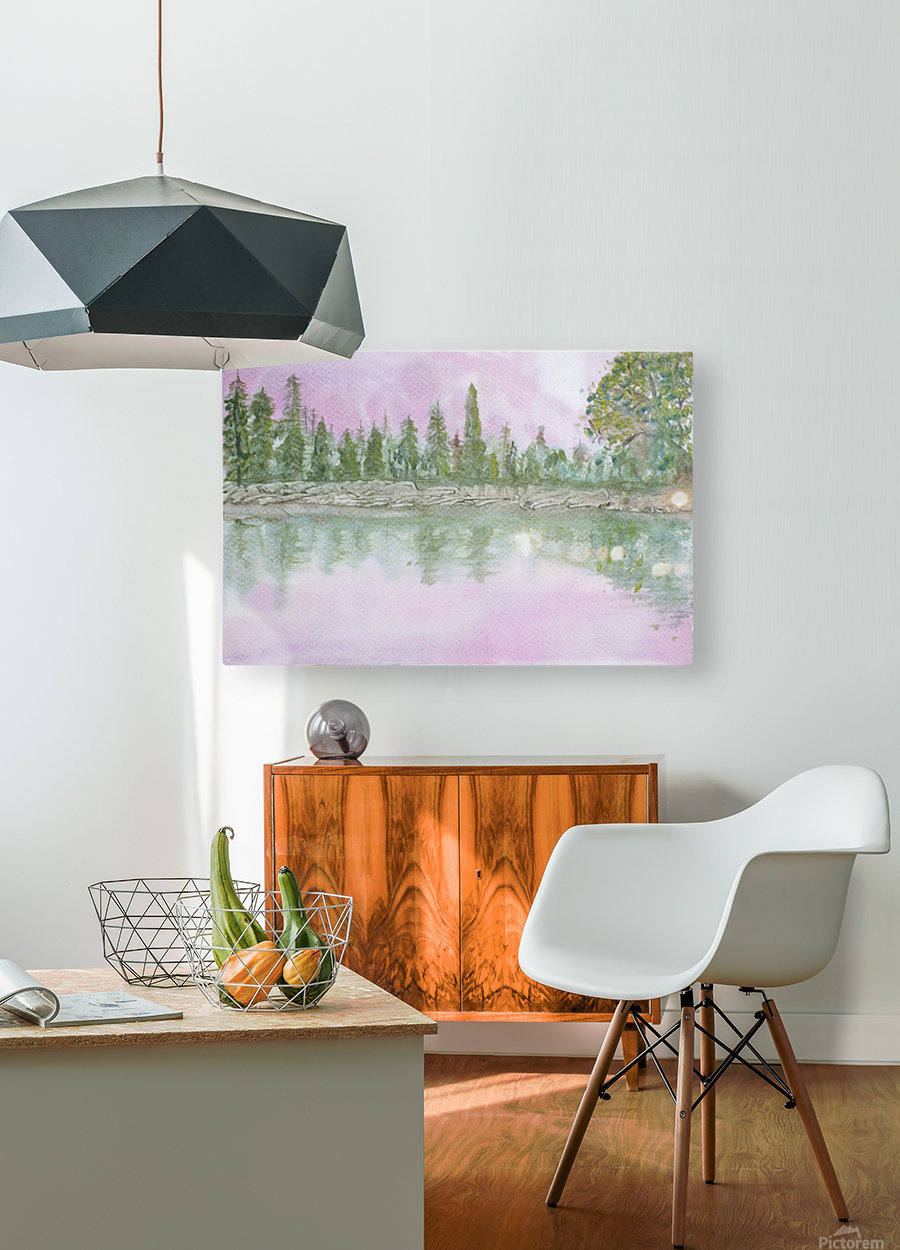Pine reflections.  HD Metal print with Floating Frame on Back