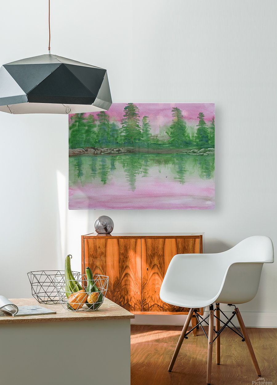 Reflections in the lake.  HD Metal print with Floating Frame on Back