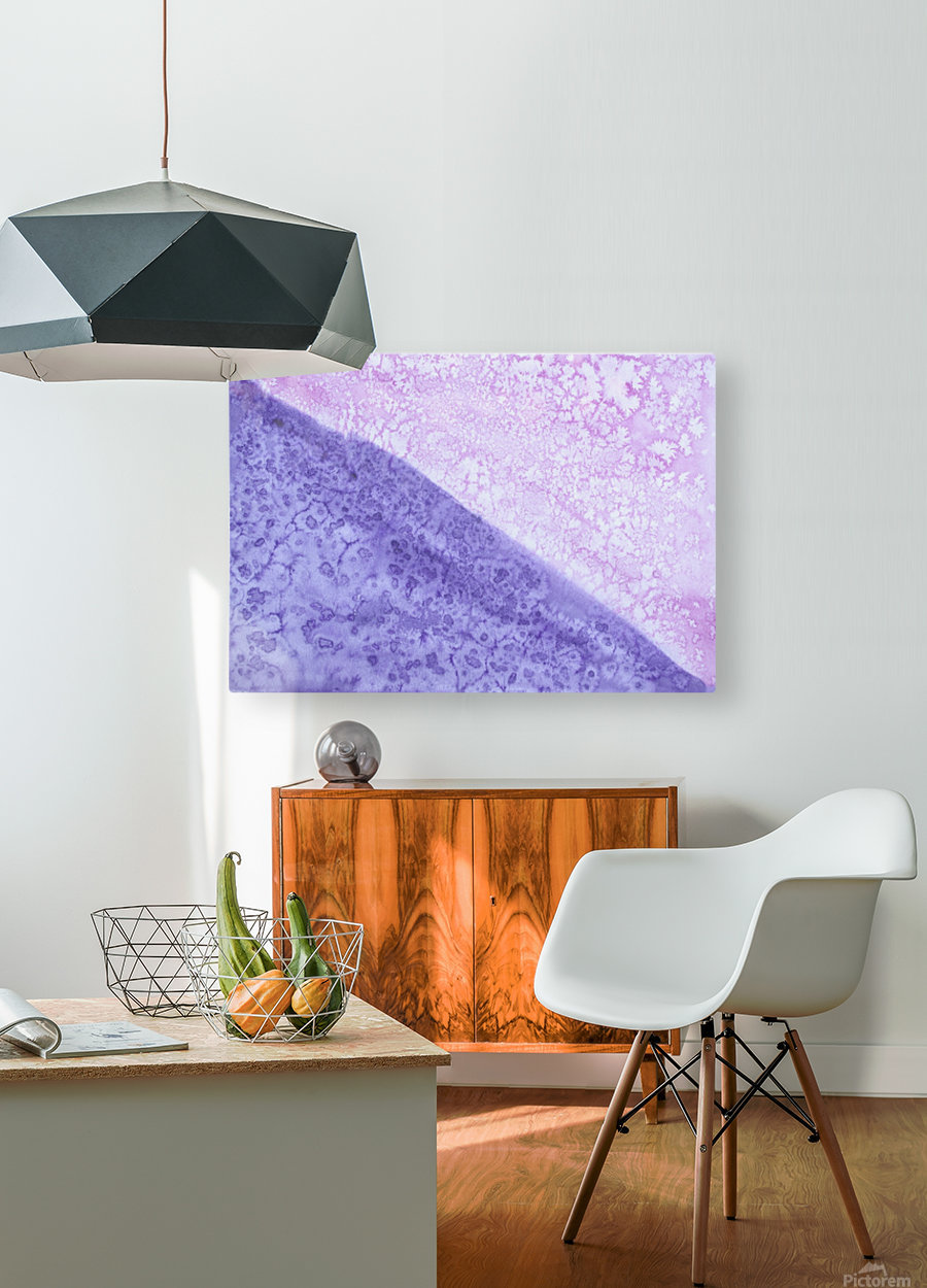 Magenta and Violet Rain.  HD Metal print with Floating Frame on Back