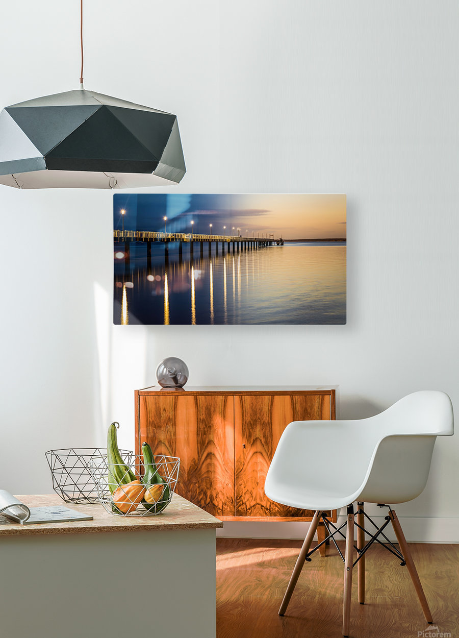 Sea Day2Night  HD Metal print with Floating Frame on Back