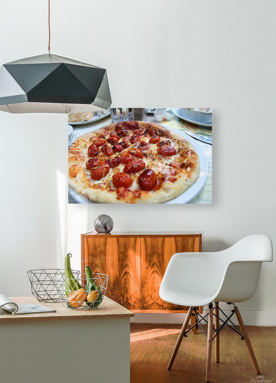 Pizza dans le Jardin de Nelson  HD Metal print with Floating Frame on Back