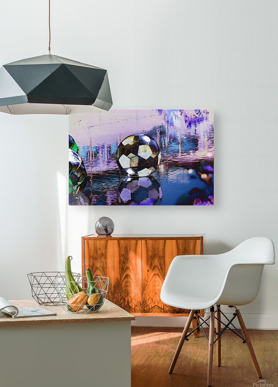 Large water ball.  HD Metal print with Floating Frame on Back