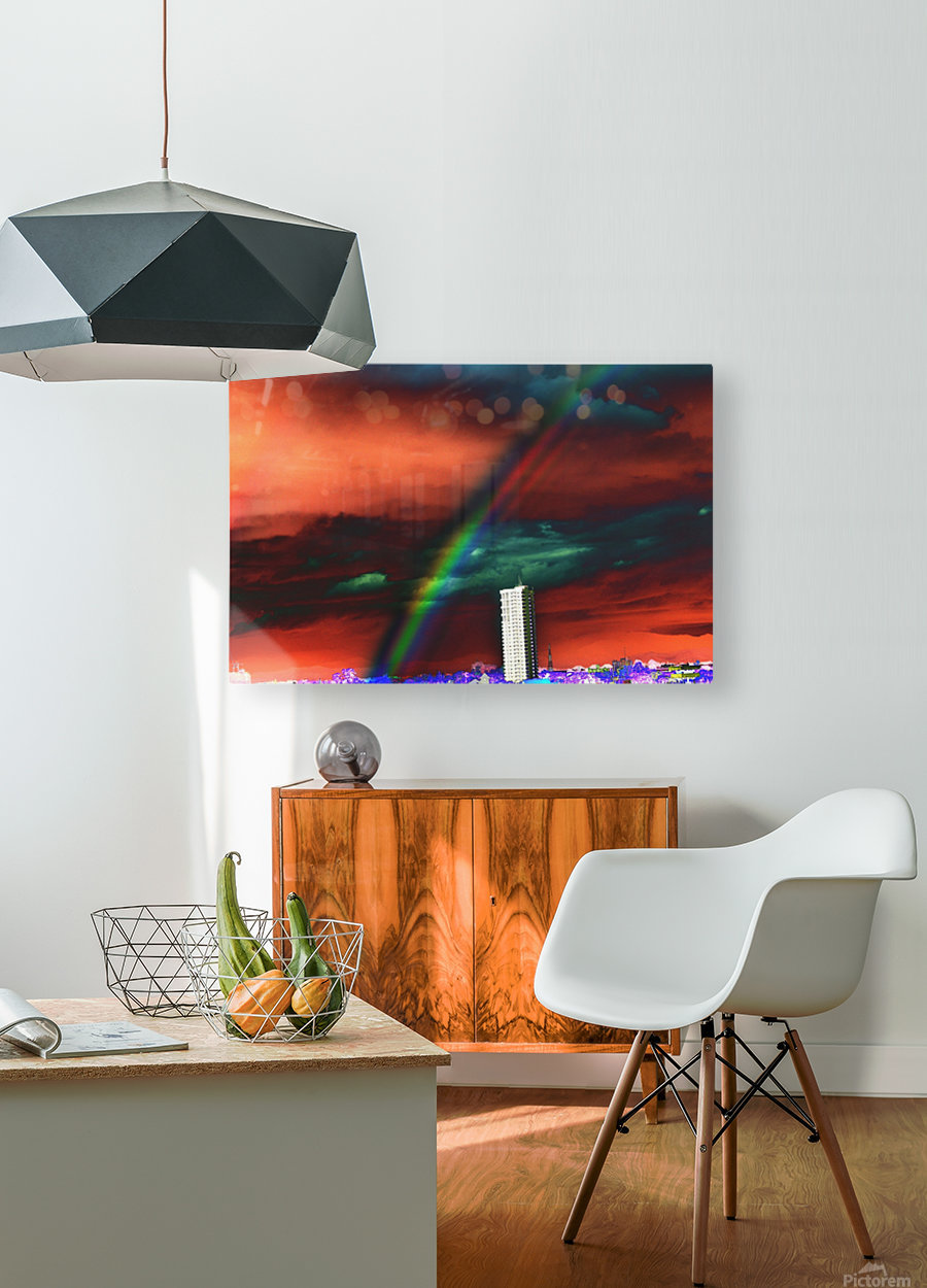 Rainbow.  HD Metal print with Floating Frame on Back