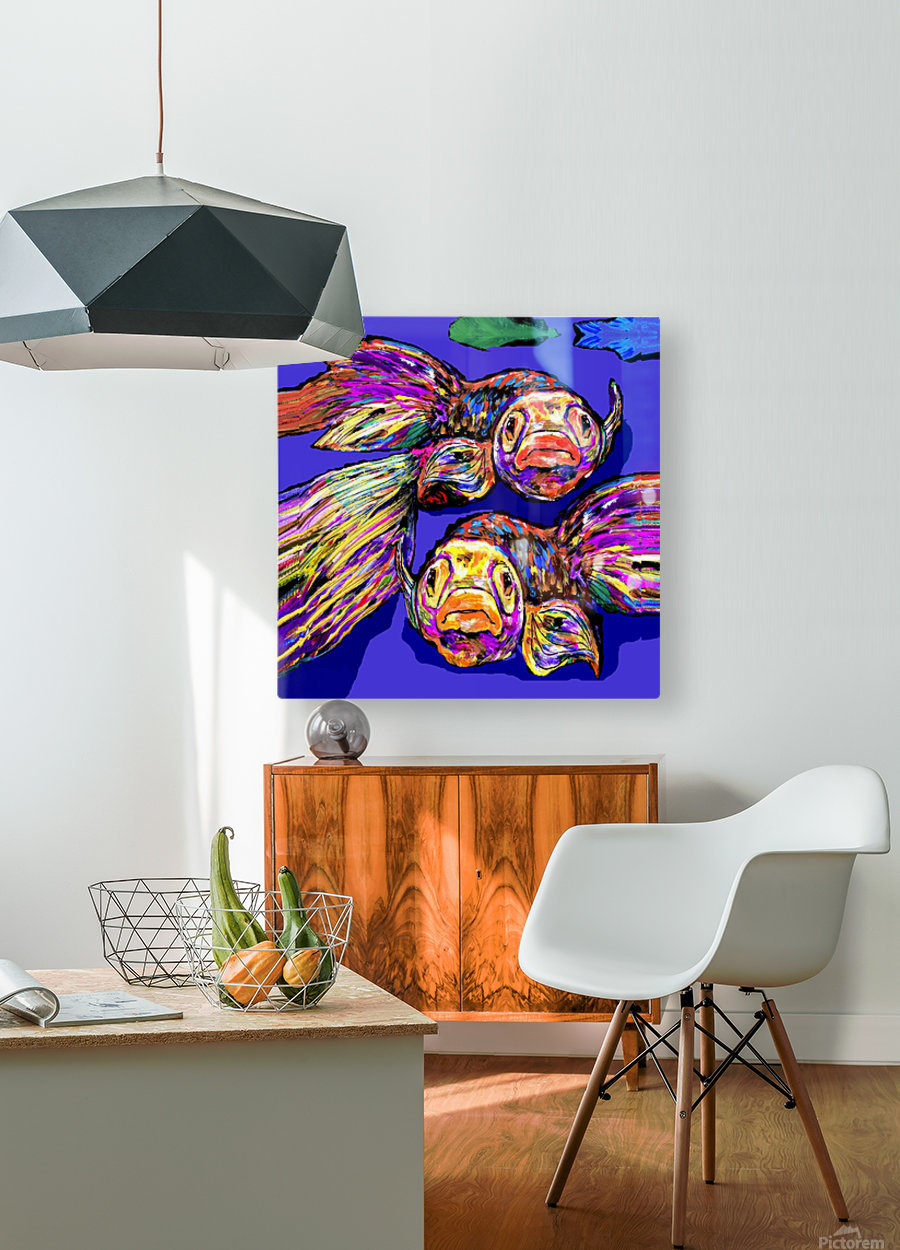 GOOD MORNING, LADIES   HD Metal print with Floating Frame on Back