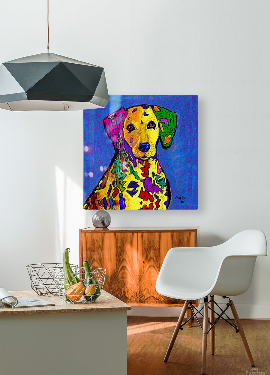 RAINBOW DALMATION   HD Metal print with Floating Frame on Back