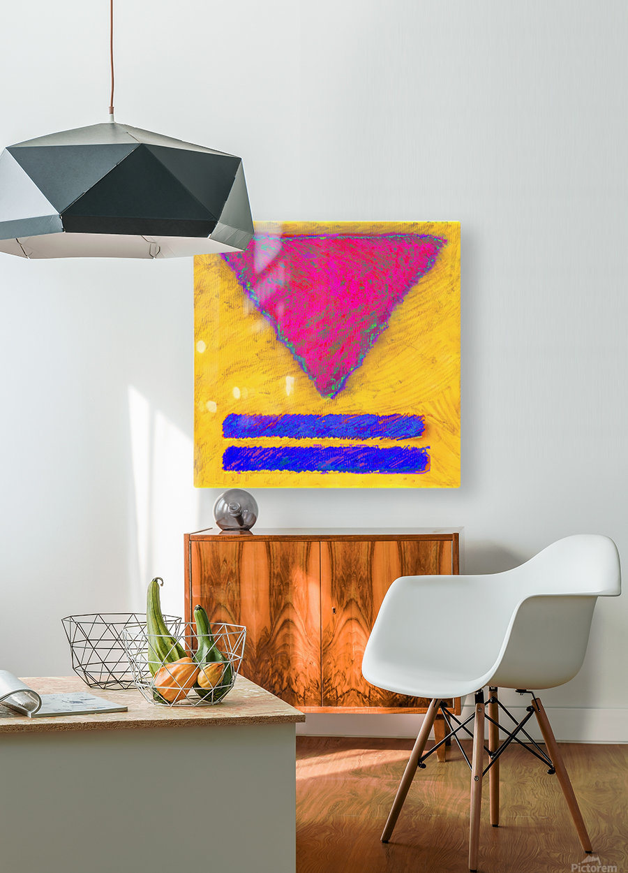 INVERTED PINK TRIANGLE  HD Metal print with Floating Frame on Back