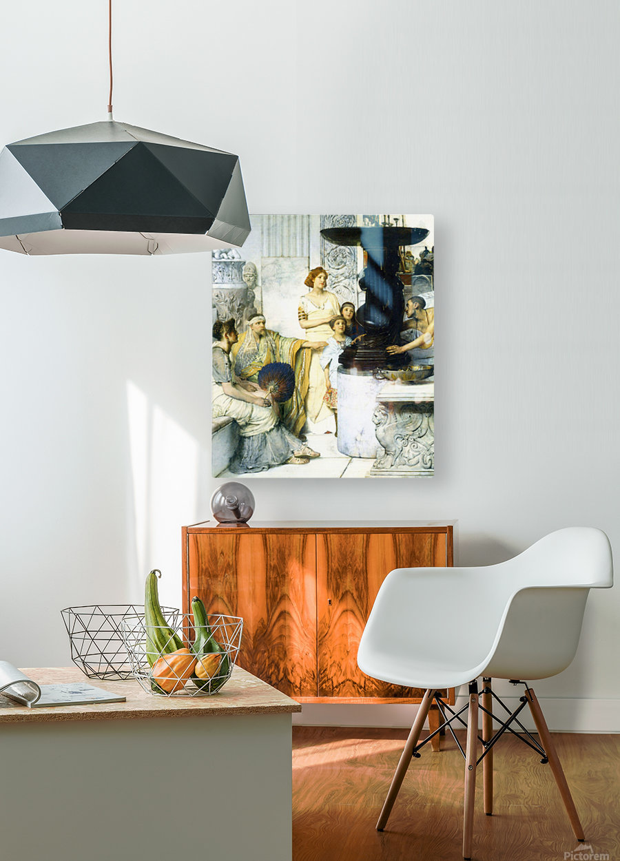 The Sculpture Gallery detail by Alma-Tadema  HD Metal print with Floating Frame on Back