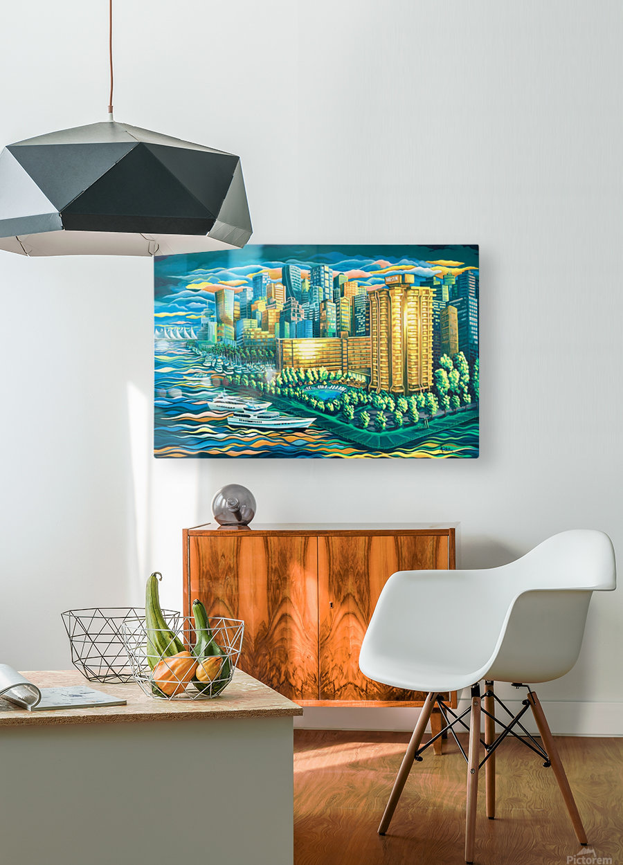 The Westin Bayshore Vancouver  HD Metal print with Floating Frame on Back