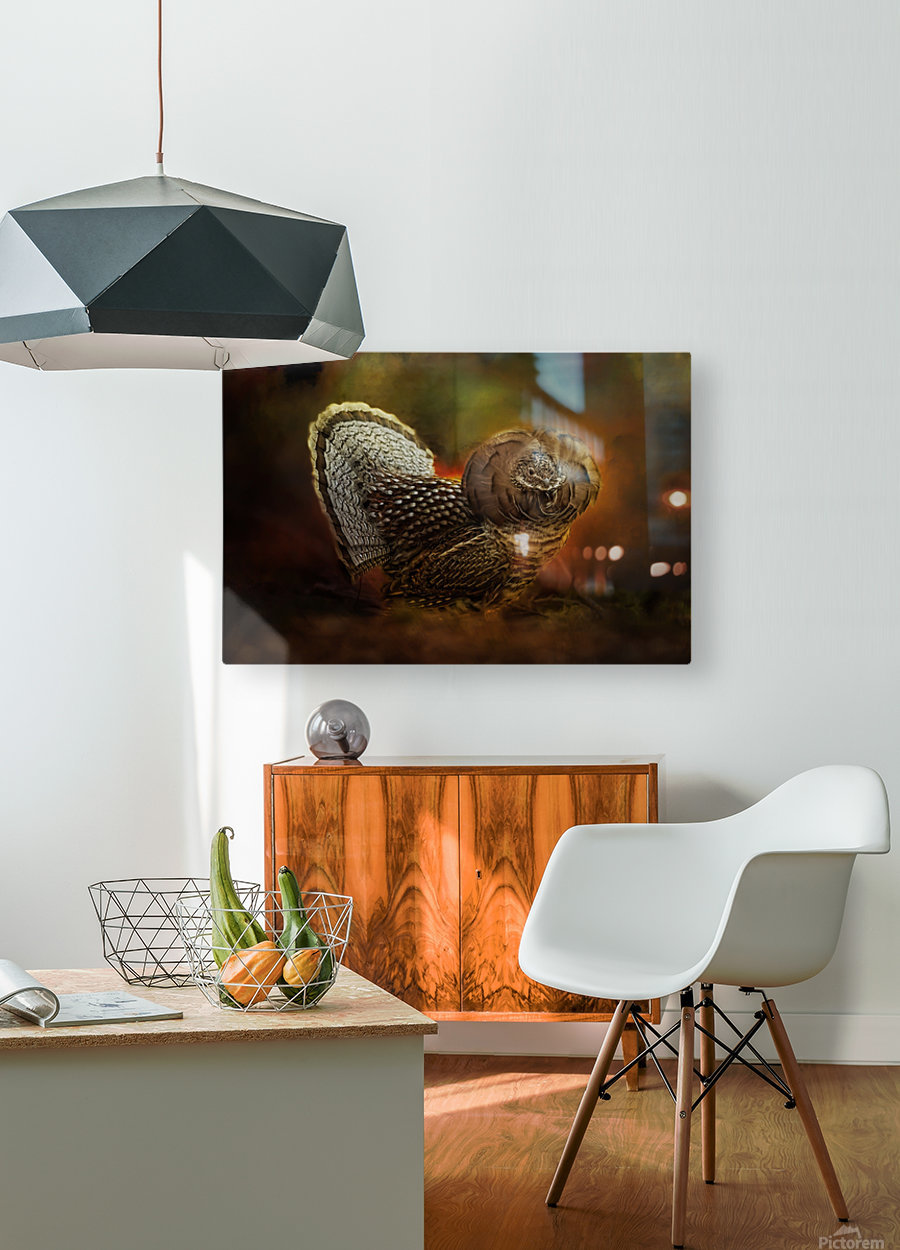 Ruffed Up  HD Metal print with Floating Frame on Back
