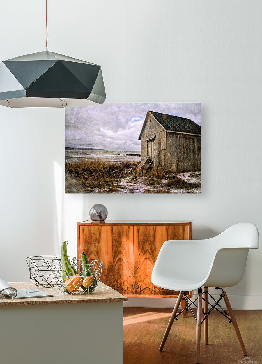 Weathered  HD Metal print with Floating Frame on Back