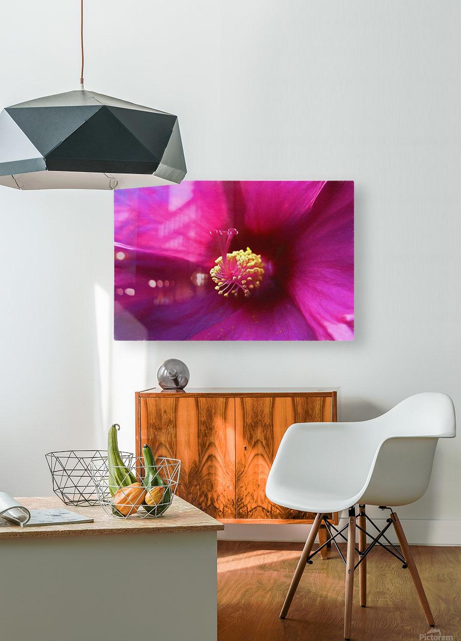 Pistil wave  HD Metal print with Floating Frame on Back