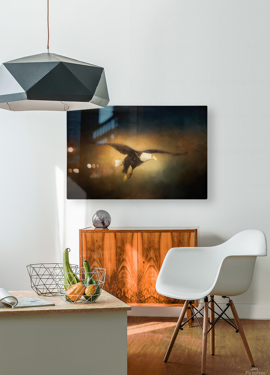 High Altitude  HD Metal print with Floating Frame on Back