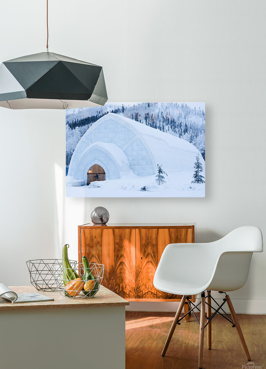 THE WINTER BARN  HD Metal print with Floating Frame on Back