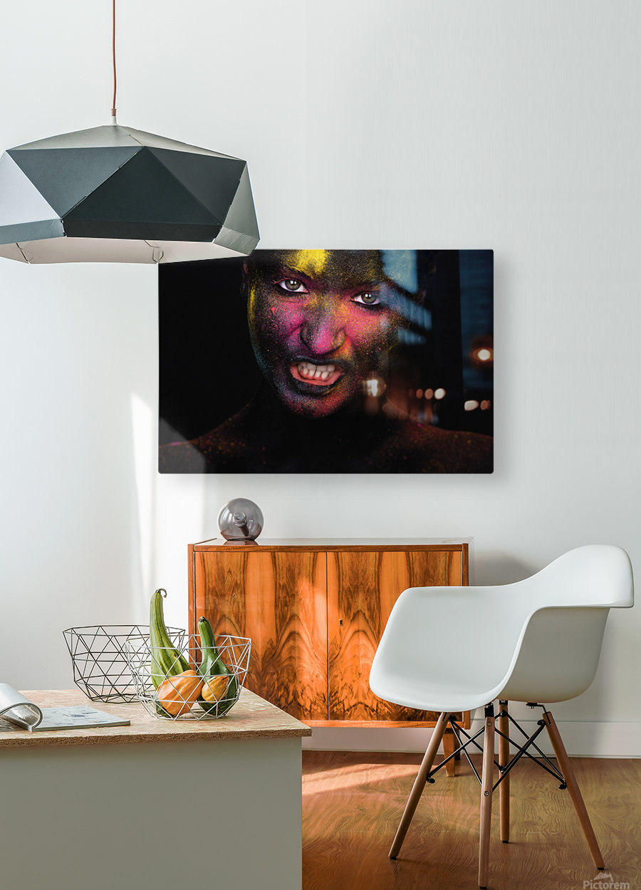 RGB feelings  HD Metal print with Floating Frame on Back