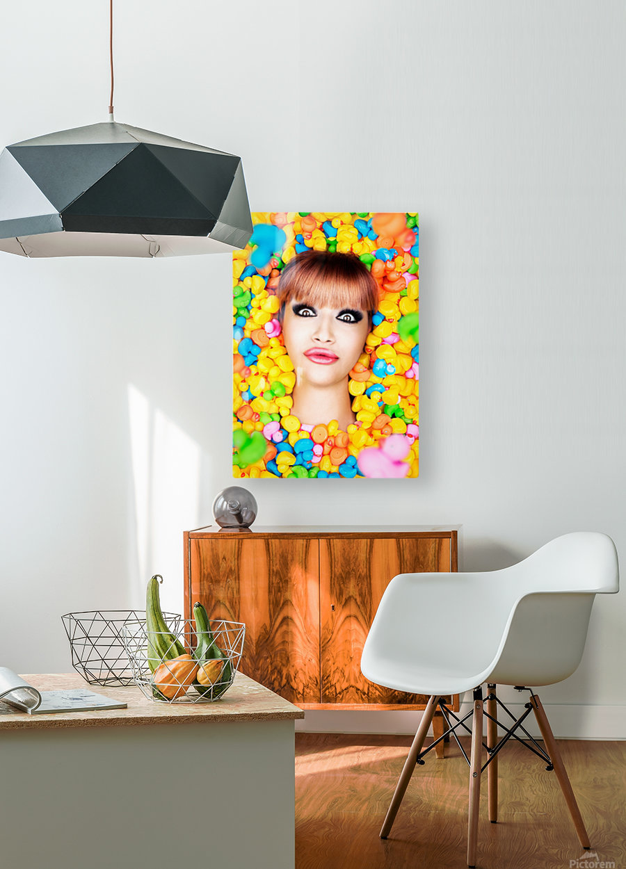 Duckfaceicon  HD Metal print with Floating Frame on Back