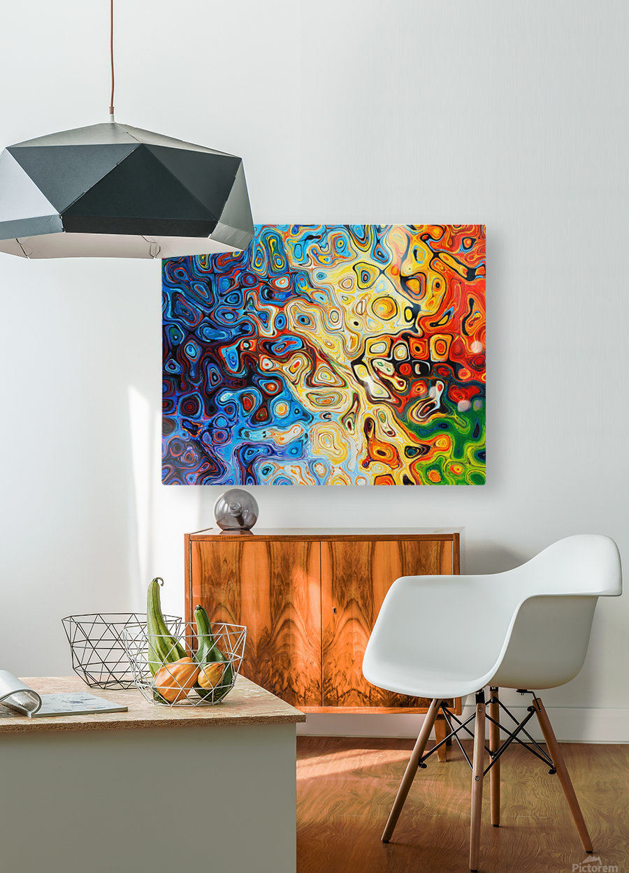 background  HD Metal print with Floating Frame on Back