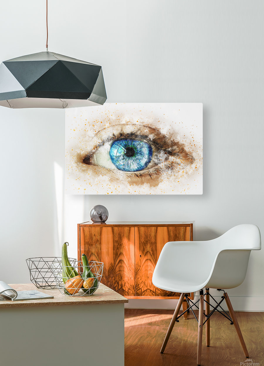 eye  HD Metal print with Floating Frame on Back