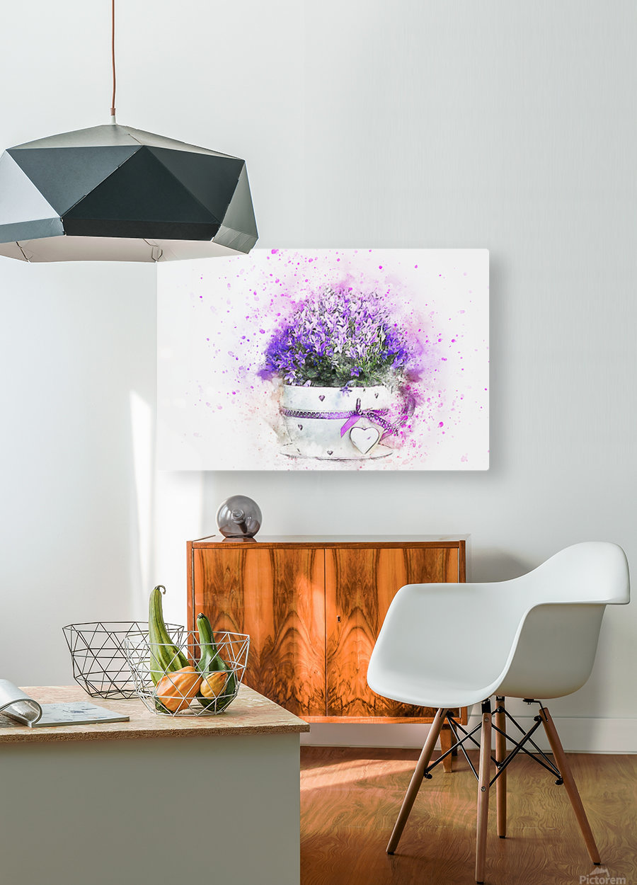 flower  HD Metal print with Floating Frame on Back