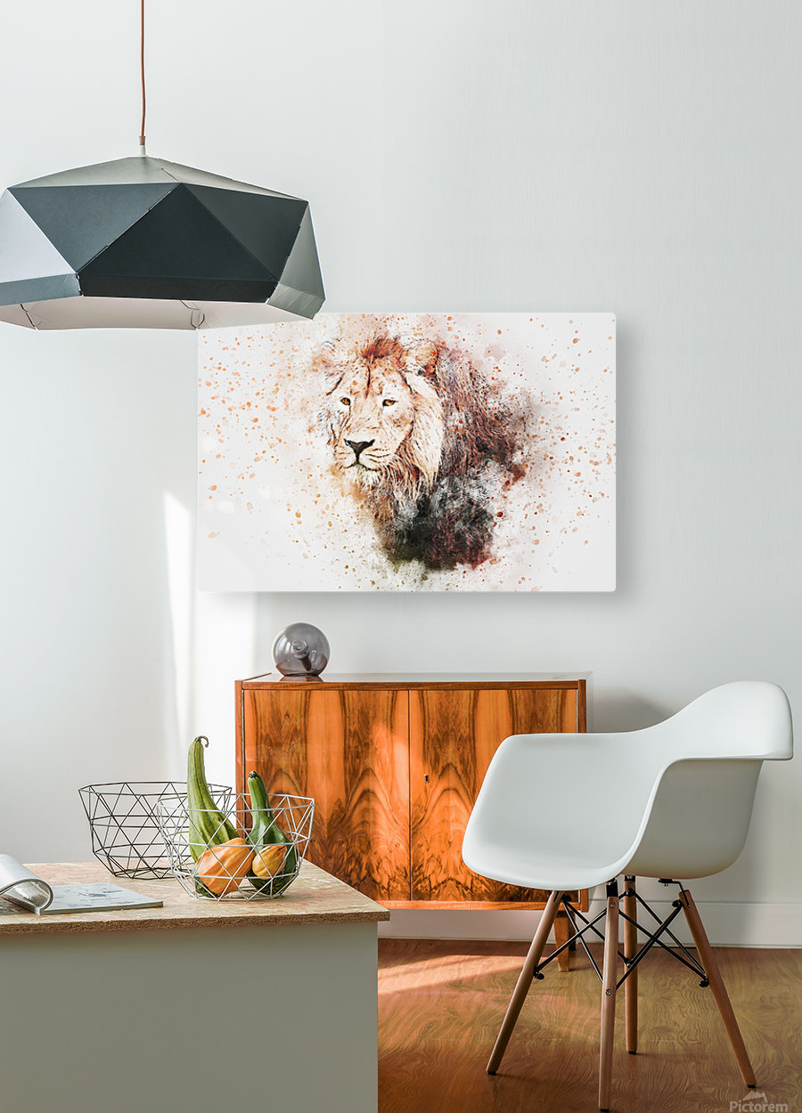 lionss  HD Metal print with Floating Frame on Back