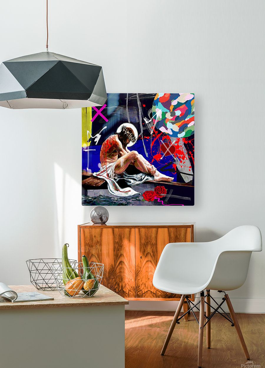 Christ X  HD Metal print with Floating Frame on Back