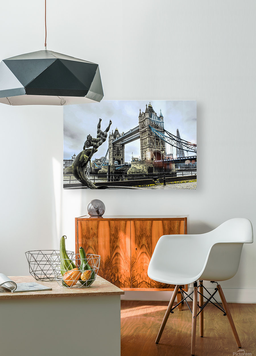 Tower Bridge - London   HD Metal print with Floating Frame on Back