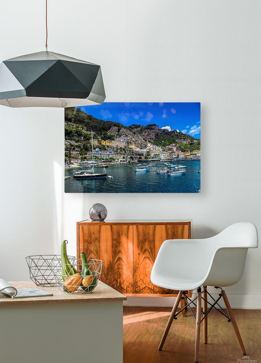 Amalfi Coast Panoramic View  HD Metal print with Floating Frame on Back