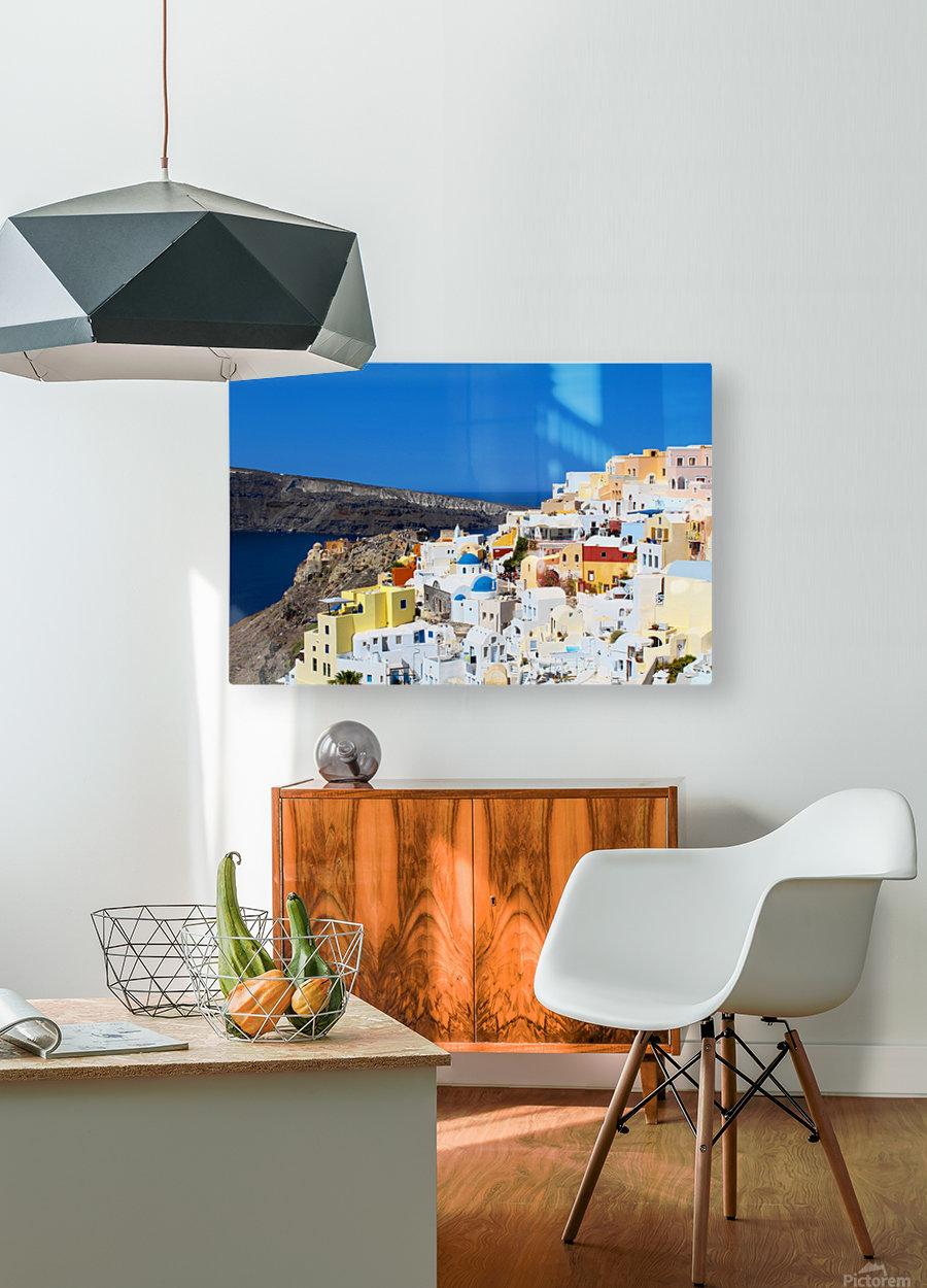 Santorini Landscape - Greece  HD Metal print with Floating Frame on Back