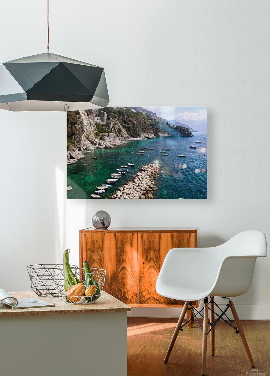 Amalfi Coast - Conca dei Marini Beach - Italy  HD Metal print with Floating Frame on Back