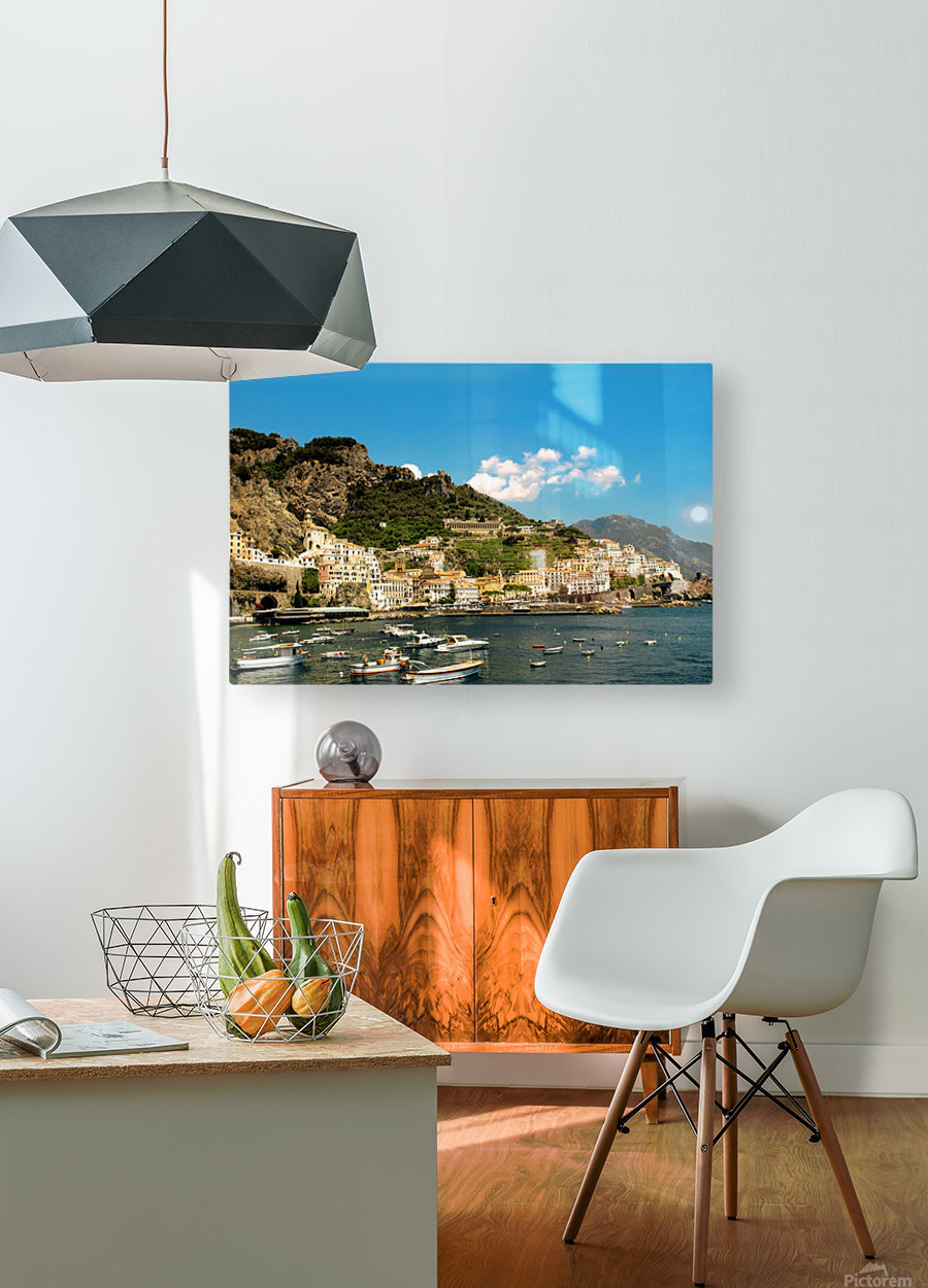 Amalfi Town - Panoramic View - Italy  HD Metal print with Floating Frame on Back