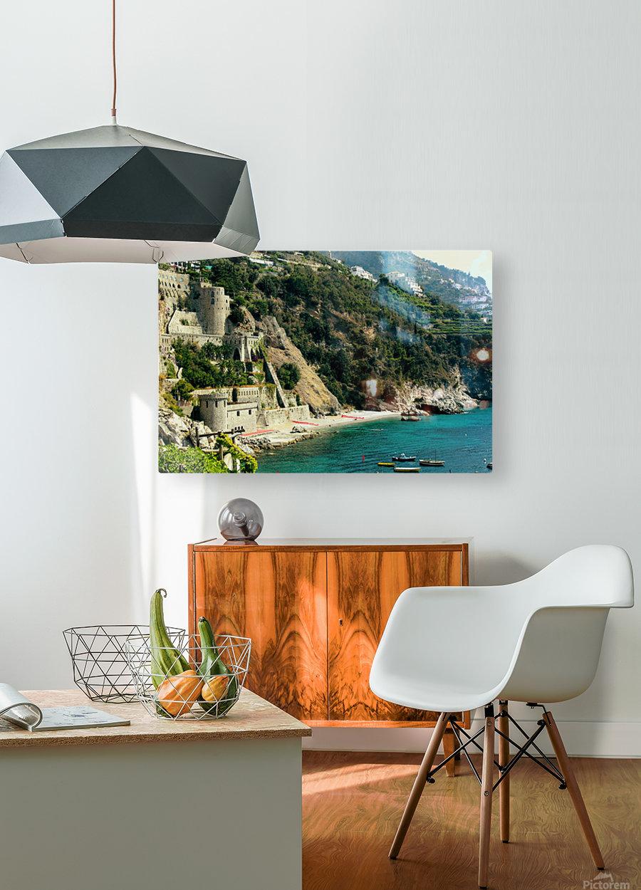 Amalfi Coast Beach - Italy  HD Metal print with Floating Frame on Back