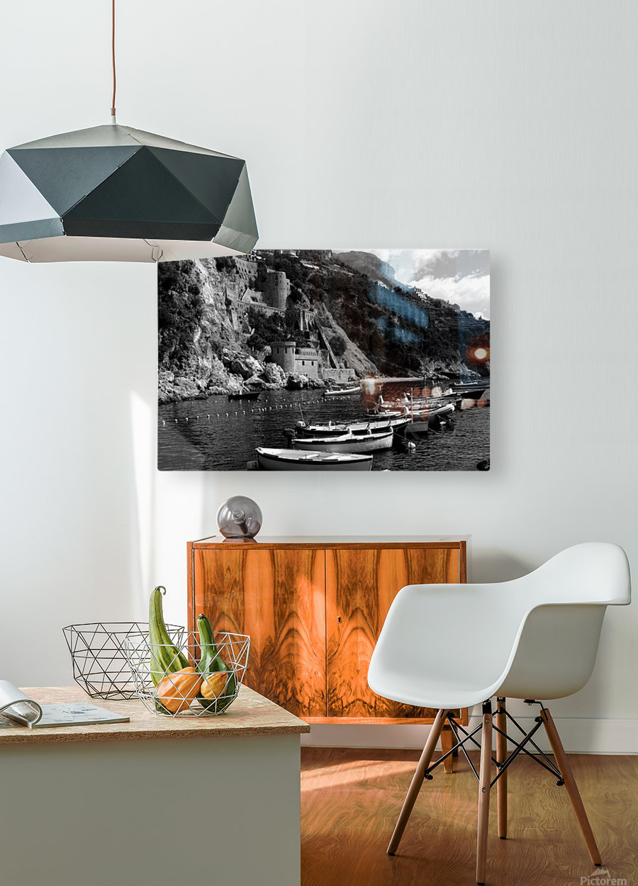 Beautiful View of Amalfi Coast Beach - Italy  HD Metal print with Floating Frame on Back