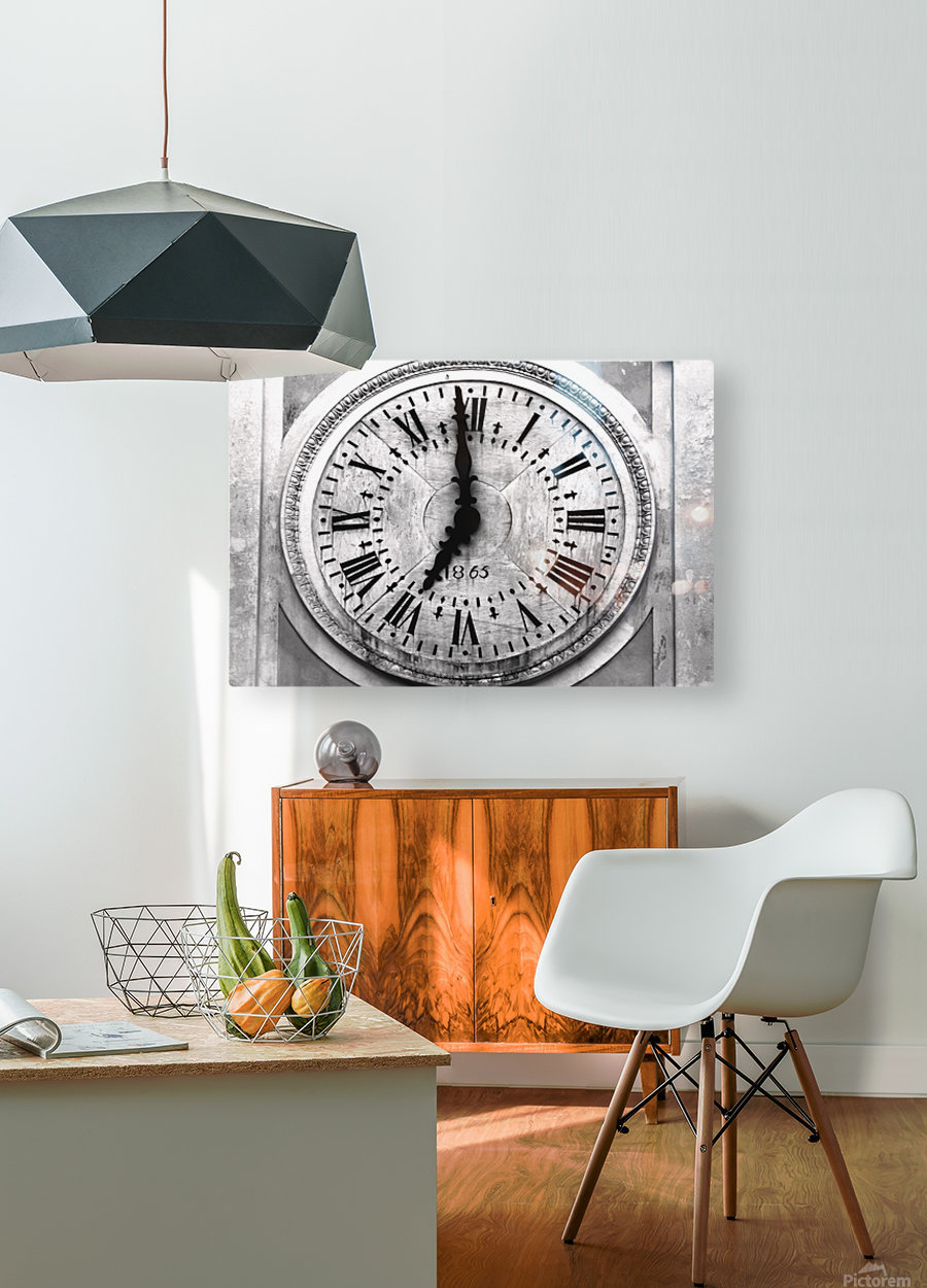 The Old Church Clock  HD Metal print with Floating Frame on Back