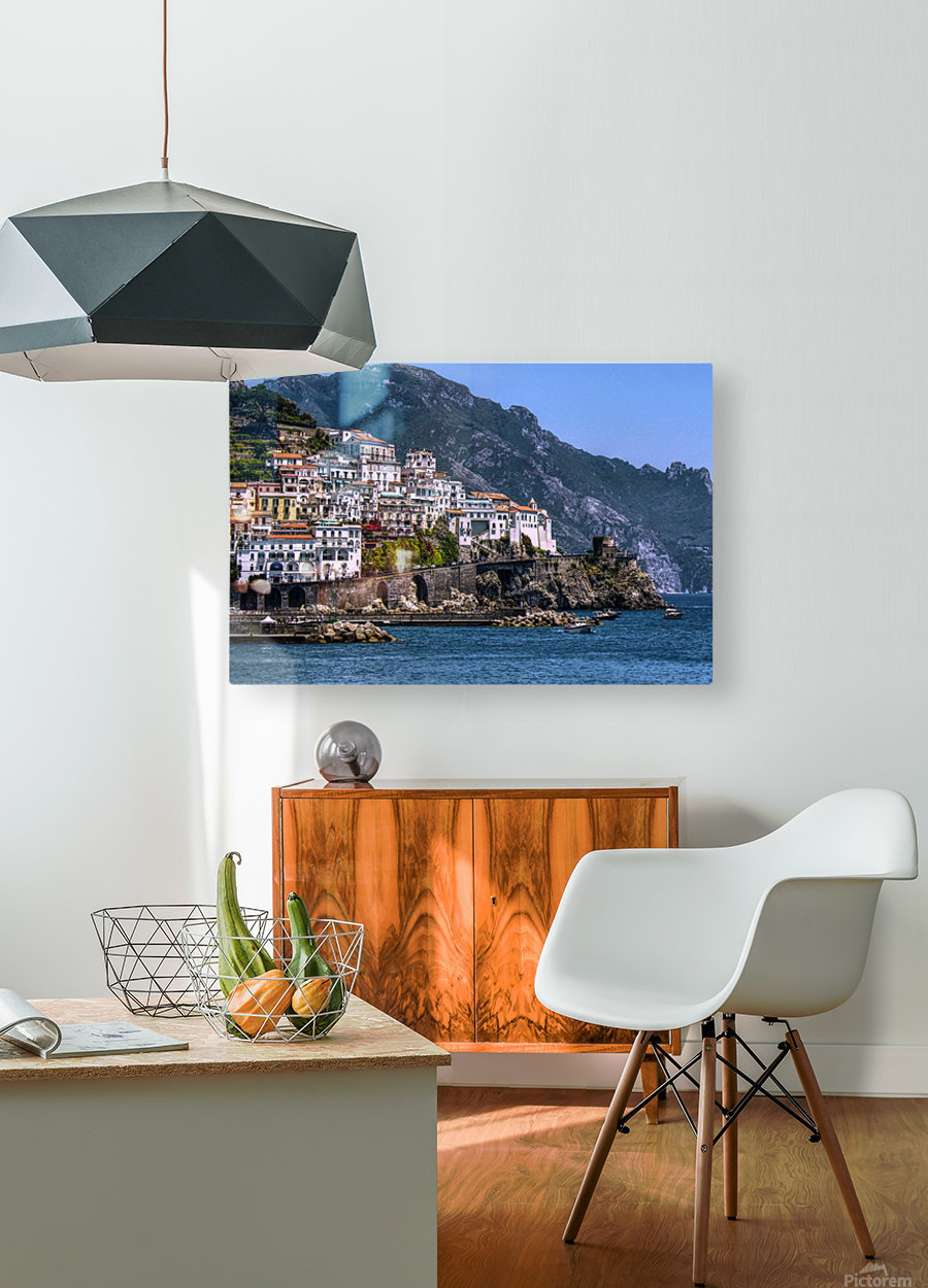 Artistic Amalfi Coast Landscape  HD Metal print with Floating Frame on Back