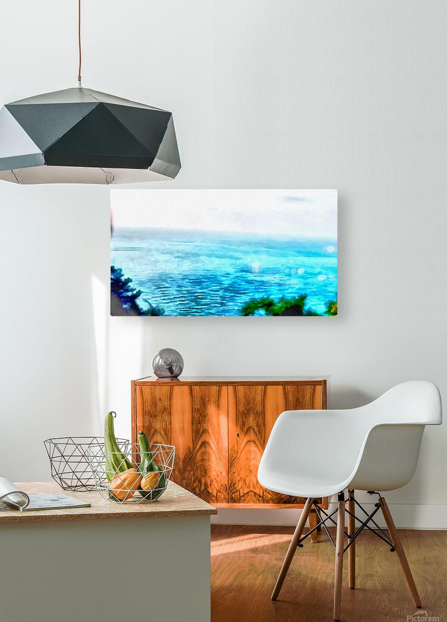 Haifa city 3  HD Metal print with Floating Frame on Back