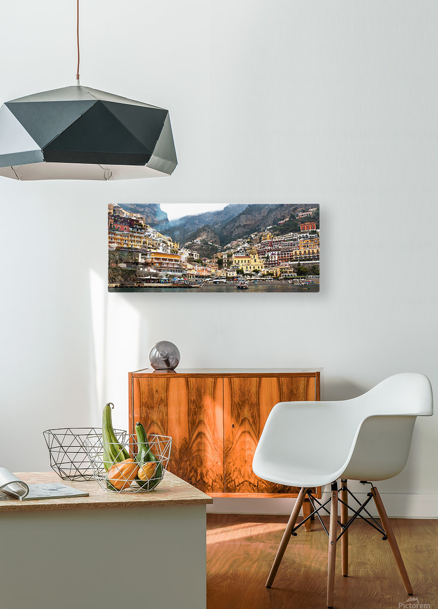 Artistic Panoramic Landscape  HD Metal print with Floating Frame on Back