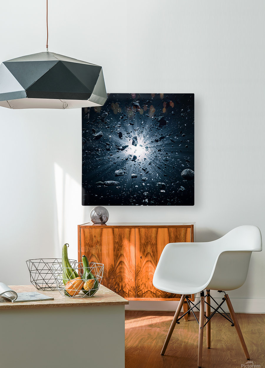 Big Bang explosion in space  HD Metal print with Floating Frame on Back