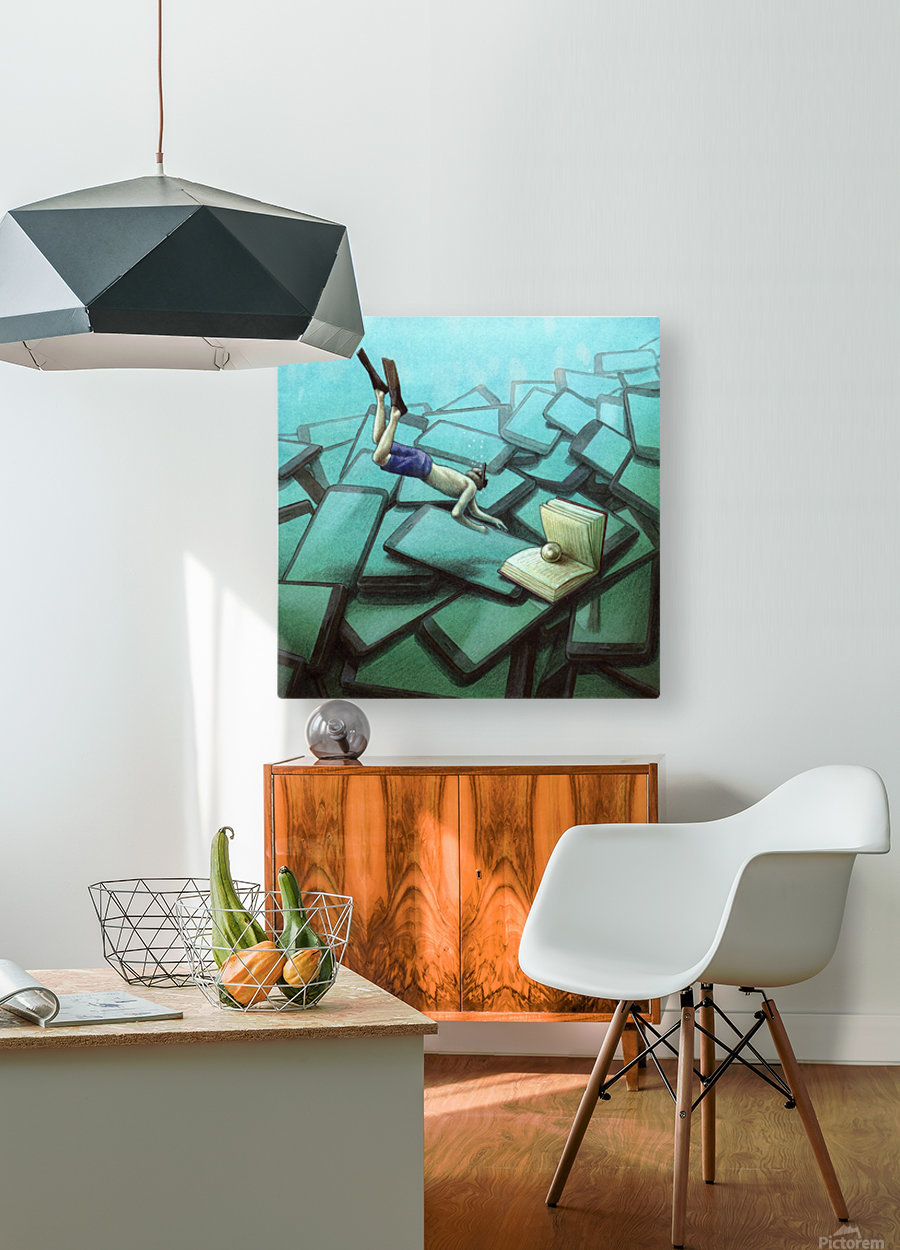 pearl  HD Metal print with Floating Frame on Back