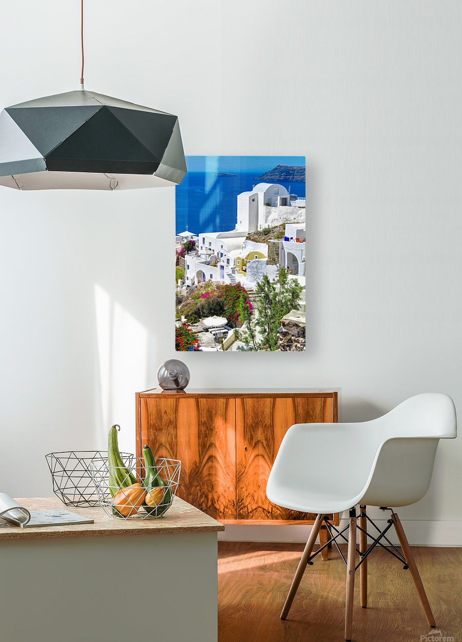 Portrait - Beautiful Village   HD Metal print with Floating Frame on Back