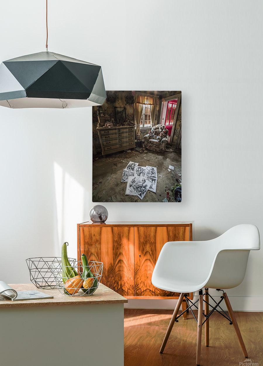 Abandoned Alice In Wonderland Room  HD Metal print with Floating Frame on Back