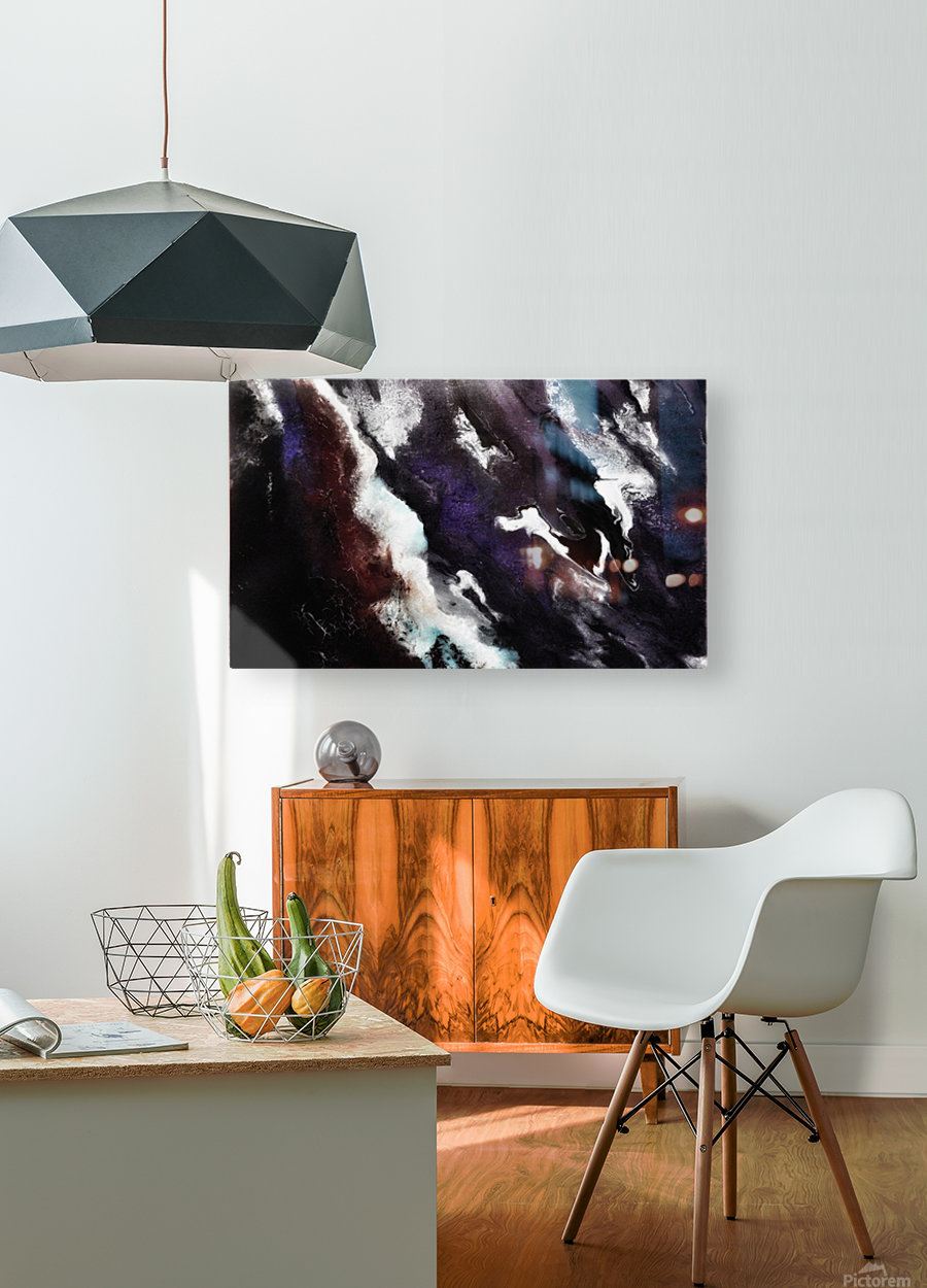 Odyssey Abstract Artwork  HD Metal print with Floating Frame on Back