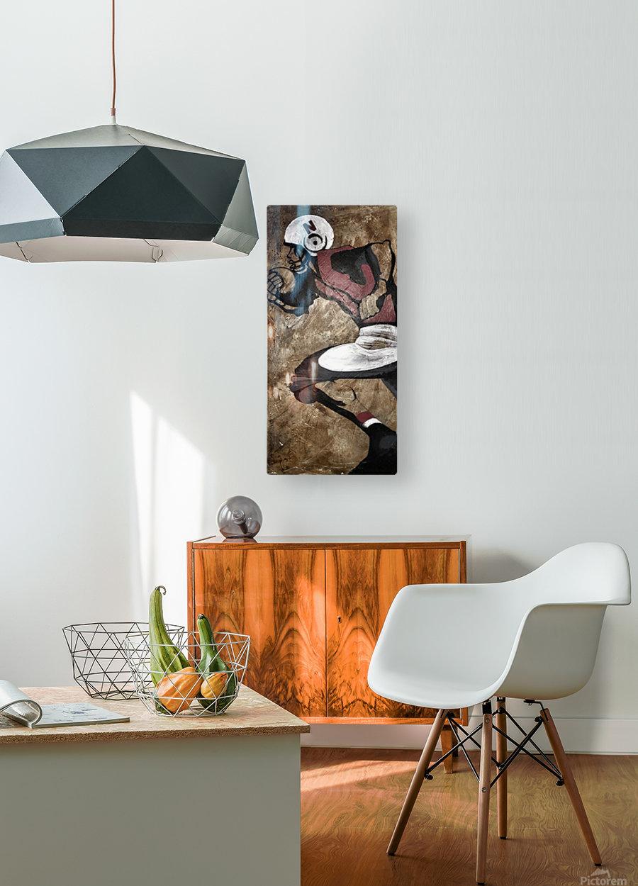 Gridiron Nebraska Football Cornhusker Artwork  HD Metal print with Floating Frame on Back