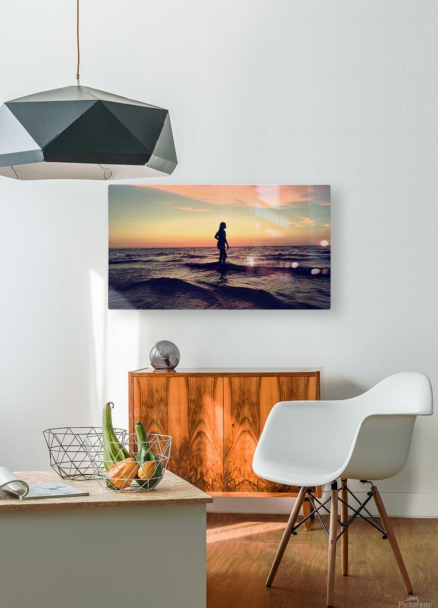 sun kiss  HD Metal print with Floating Frame on Back
