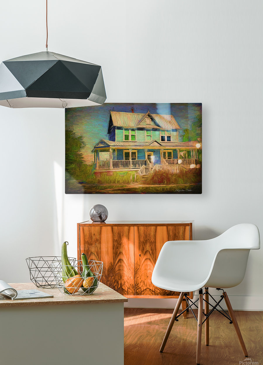 Valentine House Oil  HD Metal print with Floating Frame on Back